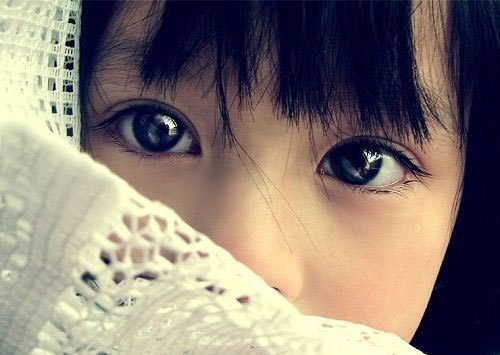 asian, child, cute, eyes, hair