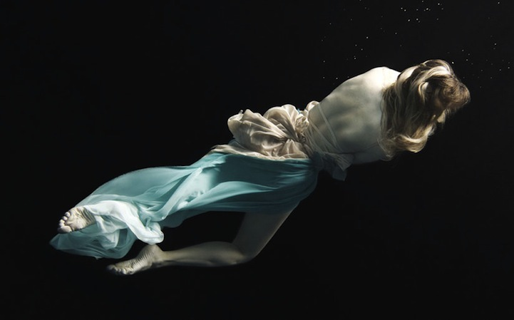 ballet, blue, pale, swim, underwater