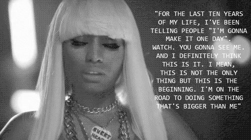 barbie, beautiful, inspiring, lady gaga, life, minaj, nicki minaj, quote, struggle, text, typography, word