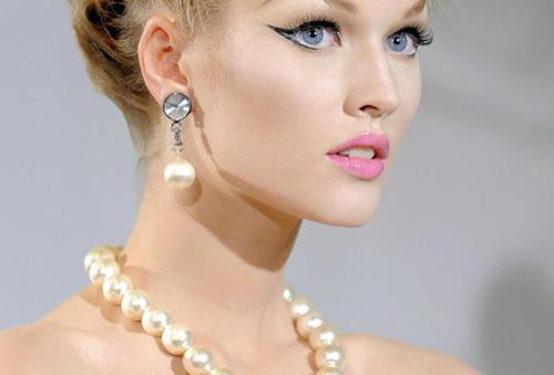beautiful, blonde, fashion, feminine, glamour, model, pearls, pretty, toni garrn