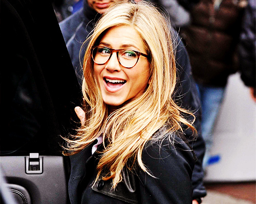beautiful, blonde, glasses, jennifer aniston