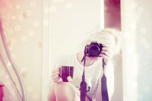 beautiful, camera, coffee, cute, girl