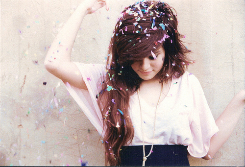 beauty, beautyful, confetti, dress, georgous