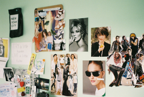 bed room, collage, cut outs, cute, magazine