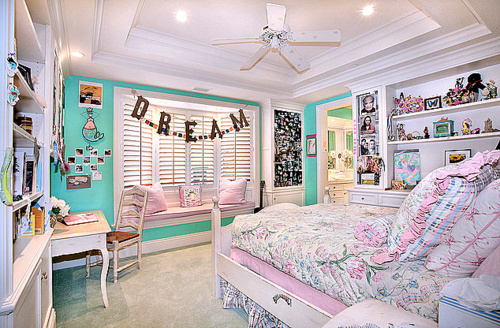 Bedroom cute dream floral girly image 180514 on for Cute girly rooms