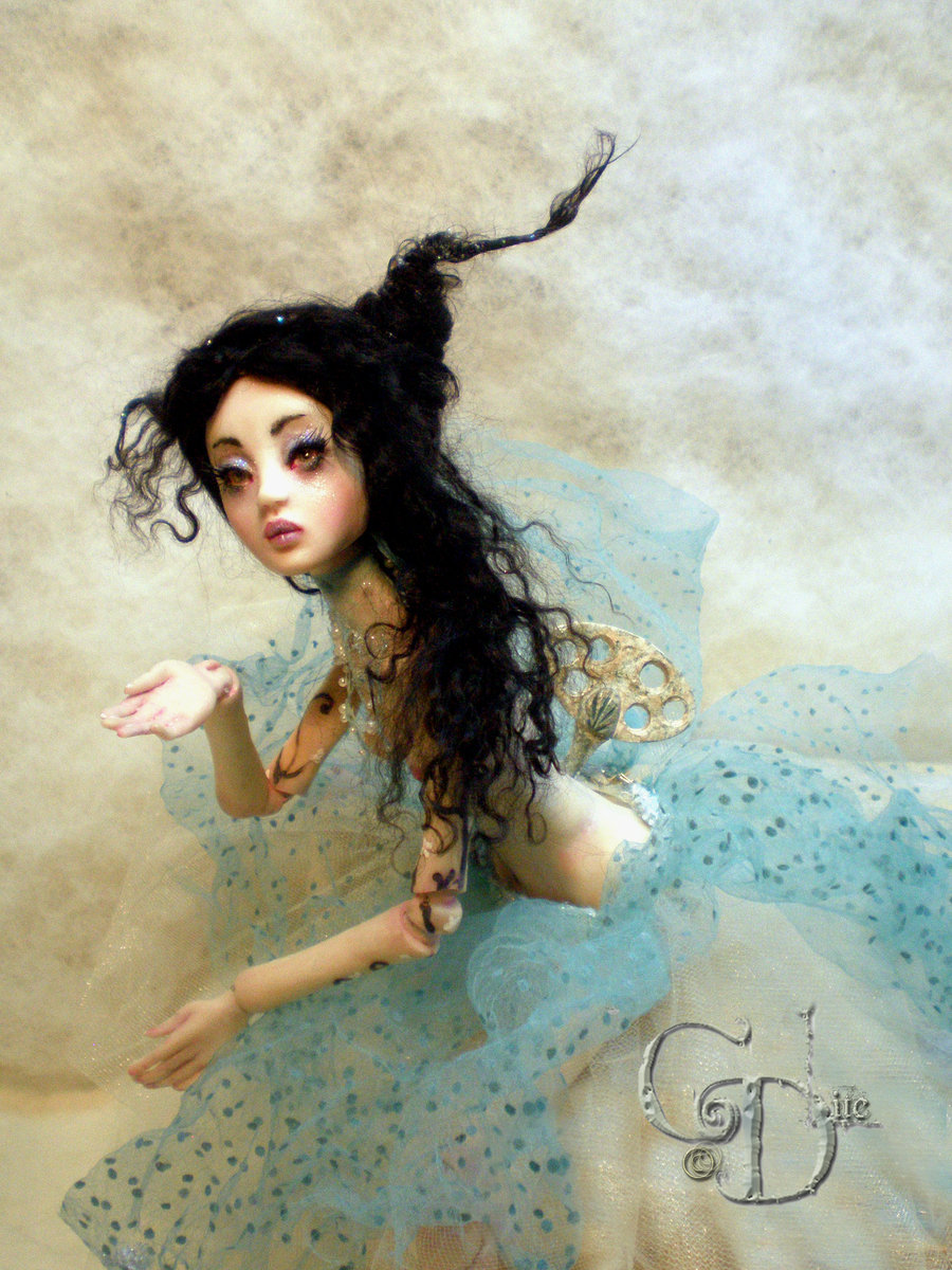 bjd, black hair, doll, fairy, fantasy