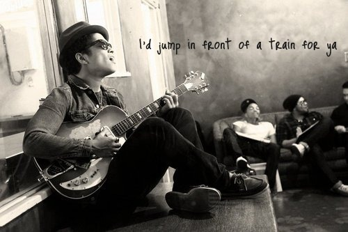 black and white, bruno mars, grenade, hot, lyrics, music, phototgraphy, singing, text, theplottobomb