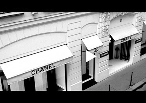 black and white, chanel, designer, fashion, store