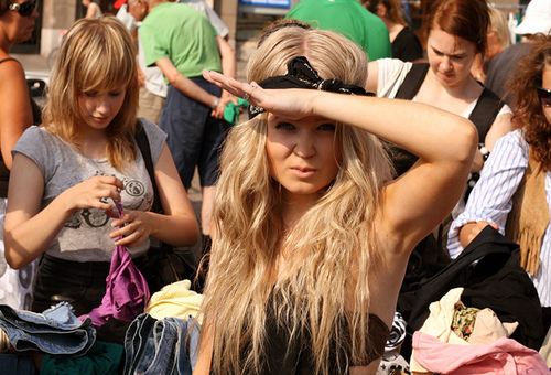 blonde, bow, fashion, girl, hair, headband