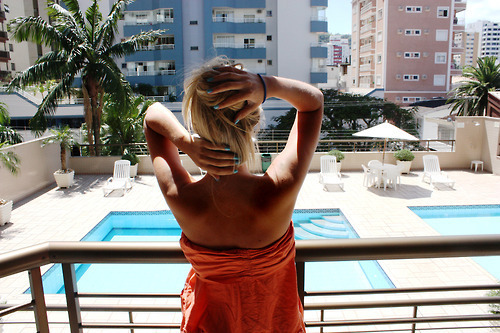 blonde, fashion, girl, nails, pool