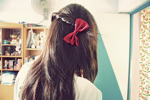 bow, braid, cute, hair, loop