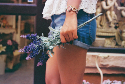 bracelet, fashion, flowers, girl, lace, shorts, watch