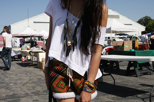 bracelet, fashion, girl, hair, necklace, shorts