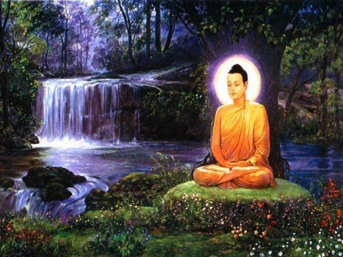 buddha, buddhist, happiness, hope, inner peace, meditation, nature, peace, peace of minf, water, waterfall, waterfalls