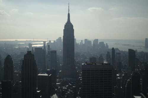 building, city, empire state building, manhattan, new york, nyc, top of the rock, view