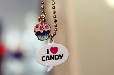 candy, cupcake, cute, jewelry, sweet