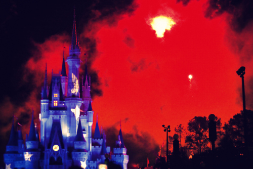 castle, cinderella, cinderella castle, disney, fire works, florida, photography, red, stars, steven spevak, walt disney world, wishes