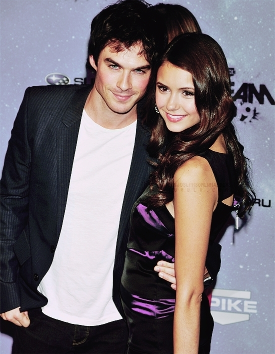 celebrity couples, cute, damon, dobrev, elena