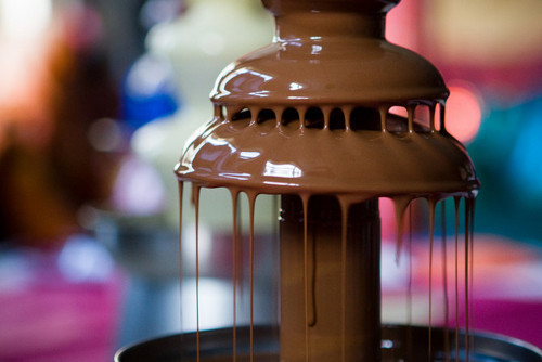 chocolate, chocolate fountain, food, photography