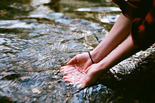 hands, indie, inspiring, water