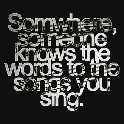 music, sing, somewhere, songs, words
