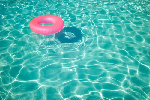 pink, pool, turquoise, water