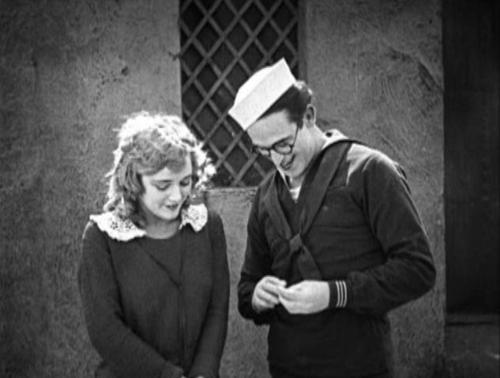 1920s, 1921, a sailor made man, harold lloyd, mildred davis, sailor, silent film, silent movie, silent star, vintage