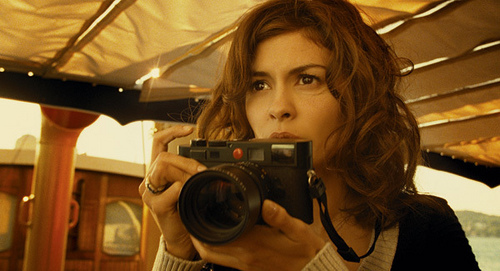 actress, audrey tautou, brunette, camera, chanel