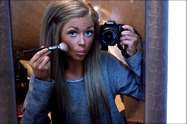 adorable, attention whore, blogger, brush, camera