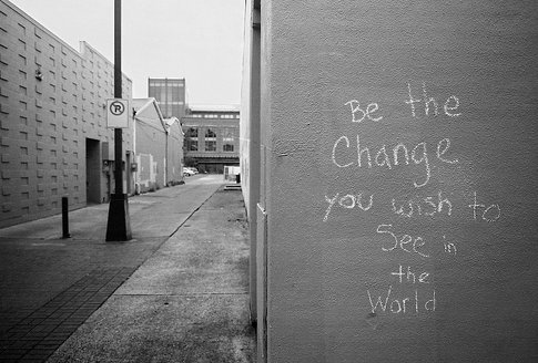 and, art, black, change, life, quote, see, text, typography, white, wish, world, writing