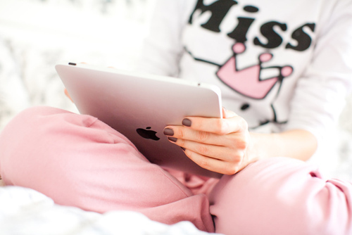 apple, cute, fashion, girl, ipad