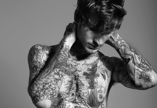 art, black and white, blog, boy, cute, fashion, hair, indie, model, photo, photography, retro, separate with comma, summer, tattoo, vintage