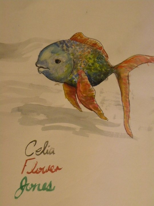 art, drawing, fins, fish, goldfish