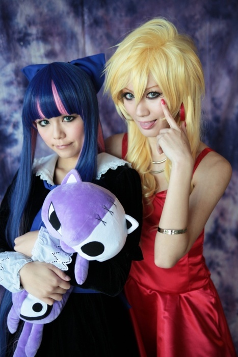 asian, cosplay, girls, panty and stocking