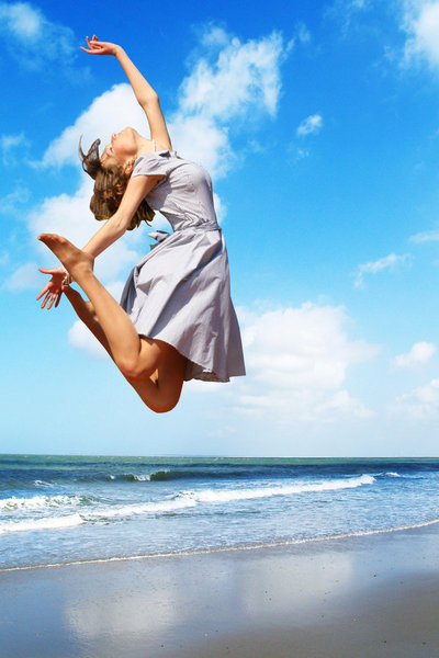 attitude, beach, dance, girl, happiness