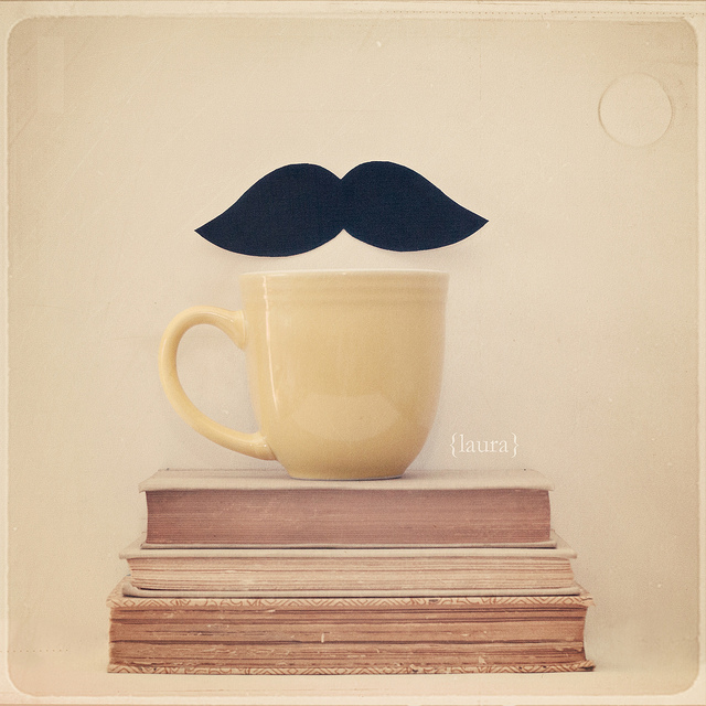 awesome, book, cup, mustache, photography