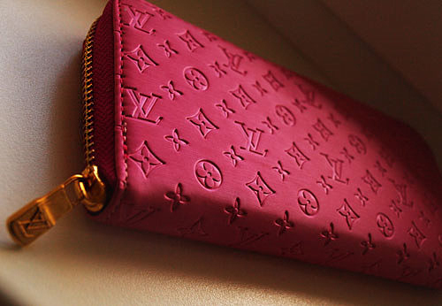 bag, fashion, gold, louis vuitton, pink, yves saint laurent