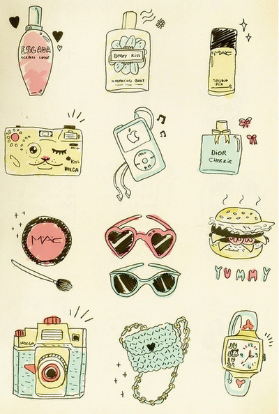 bags, camera, dior, food, ipod, mac, make up, sunglasses, things, watch