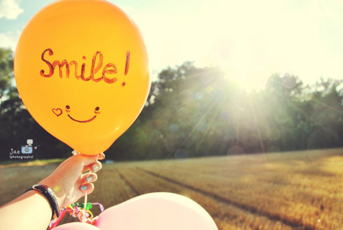 balloon, cute, smile, sun