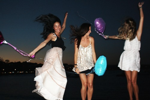 balloons, dancing, fashion, fun, girls