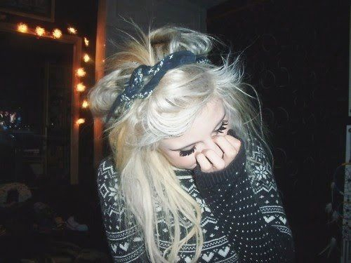 bandana, beautiful, beauty, black, blond