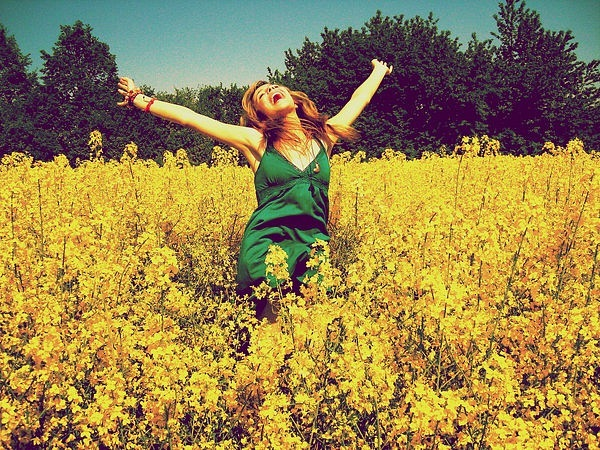 be free, flowers, free, girl, happiness