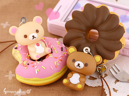 bear, chain, cute, doughnut, food