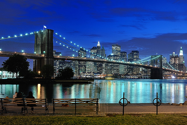 beautiful, bench, bridge, brooklyn, buildings