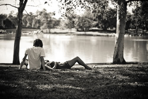 beautiful, black and white, boy, couple, cute, dress, fashion, girl, lake, life, love, nature, photo, photography, pretty, vintage, white