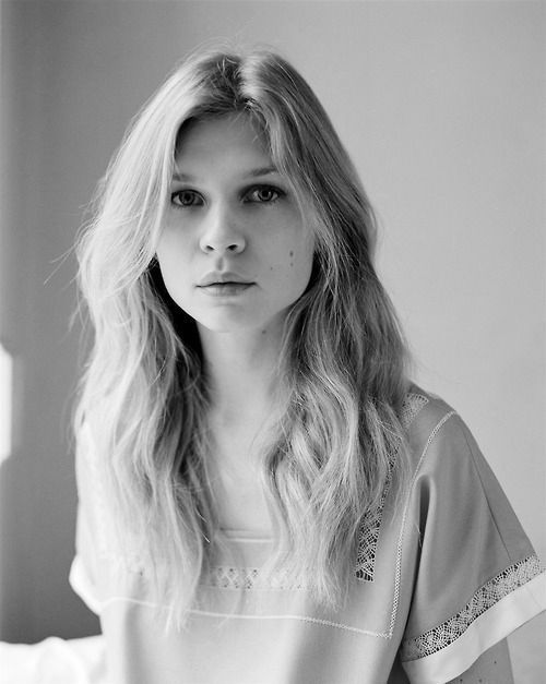 beautiful, black and white, clemence poesy, fashion, girl