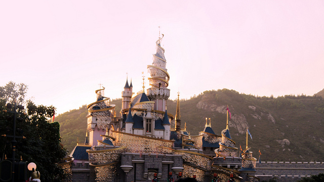 beautiful, castle, disneyland, hong kong, shimmer
