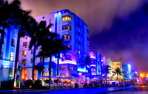 beautiful, colors, hollywood, hotels, miami, nightlife, south beach, strip