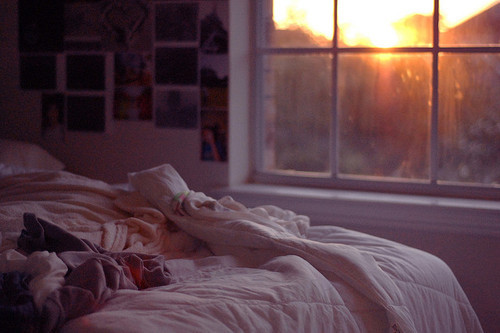 bed, bedroom, clothes, photographies, photos, room, sun, window