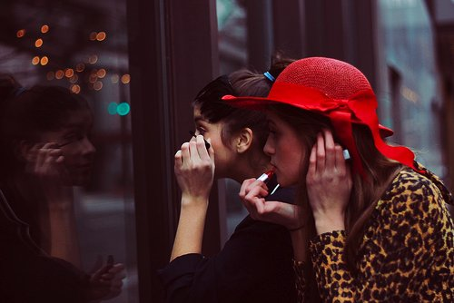 bests, bffs, blazer, blooms, fashion, friends, girls, hats, make up, red